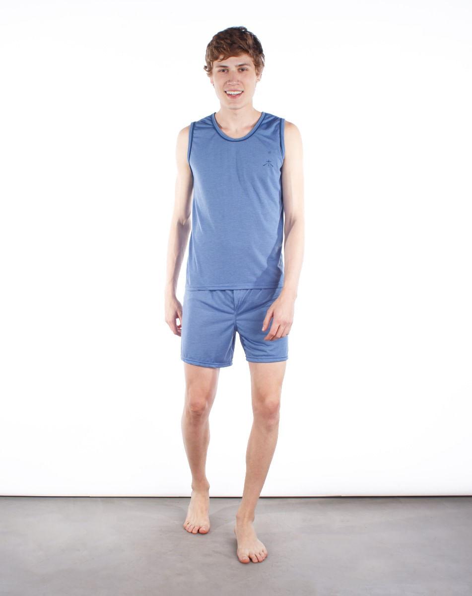 2050005877464-Pijama-Curto-Liso-Masculino-Regata-PETROLEO-P-1