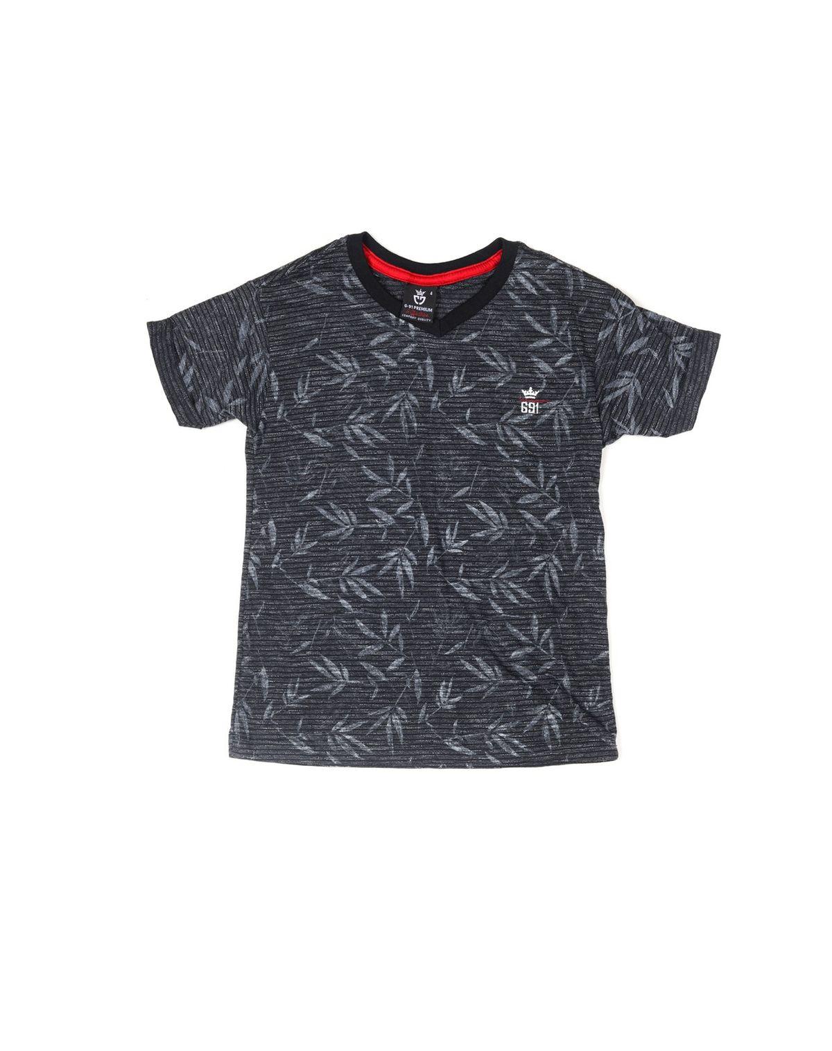 2050005688640-Camiseta-Manga-Curta-Infantil-Menino-Folhagens-PRETO-6-1